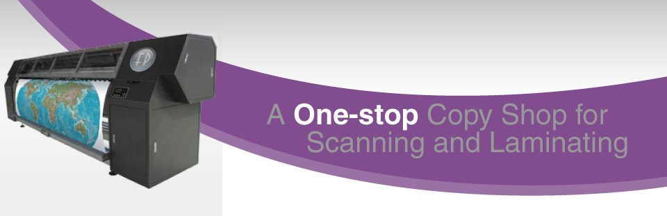 A One-stop Copy Shop for Scanning and Laminating | large format printer